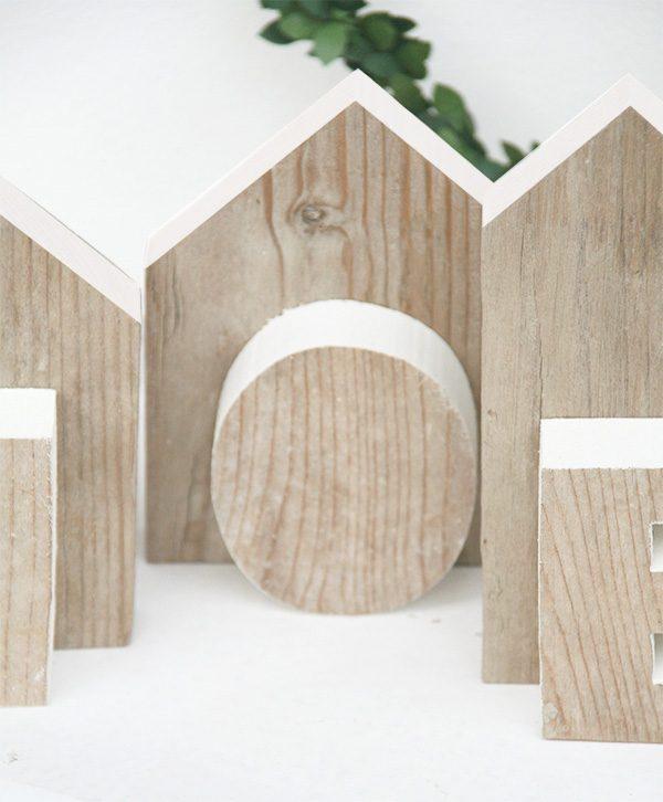 Centrotavola di natale in legno di recupero