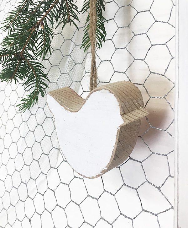 decorazione - Uccellini da appendere in legno di recupero naturale e colorato a scelta