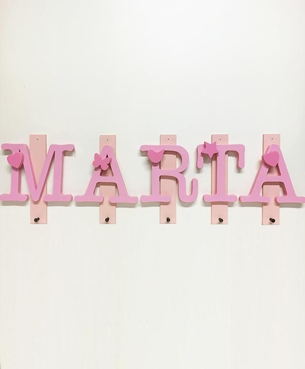Appendiabiti con lettere per nome bambina