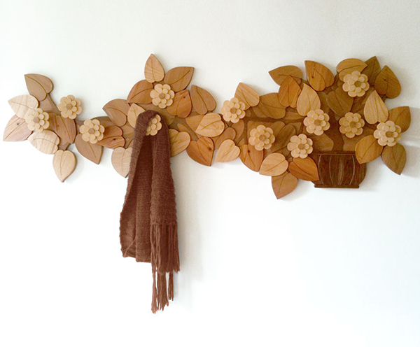 Appendiabiti su misura in legno
