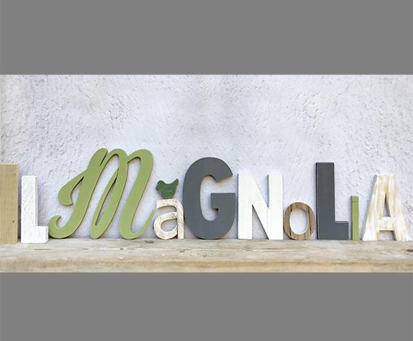 Riproduzione su misura in legno del marchio
