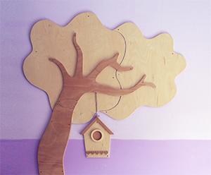 Arredamenti e decorazioni in legno per scuole e asili